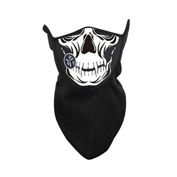 High Quality Festival Skull Skeleton Outdoor Motorcycle Bicycle Multi Function Scarf Half Face Mask Ghost Scarf Holiday Supplies