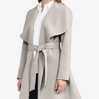 Lauren Ralph Lauren Crepe Open-Front Coat - Shop All - Sale - Macy's