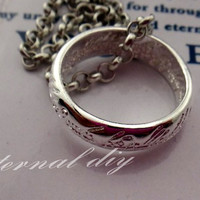The Lord of the rings the ring necklace, the hobbit silver ring,