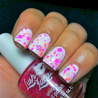NEW NeonChicks Rule  CustomBlended NEON Glitter by lushlacquer