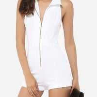 Casual Zips Dacron Plain Rompers