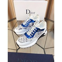DIOR Men Fashion Boots fashionable Casual leather Breathable Sneakers Running Shoes-45