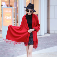 2016 New Luxury Scarf Winter Women Scarf Female Cashmere Solid Scarf Best Quality Pashmina Studios Tassels Women Wraps