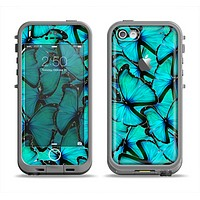 The Turquoise Butterfly Bundle Apple iPhone 5c LifeProof Fre Case Skin Set