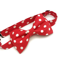 Mickey Mouse Bow Tie • Polka Dot Bow Tie • Fathers Day Gift • Disney Bow Tie • Red and White Bow Tie • Minnie Bow Tie • Pre-Tied Bow Tie