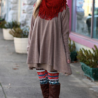 Double Layers Tunic Top {Mocha}