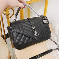 YSL Fashion Women Shopping Leather Handbag Tote Crossbody Satchel Shoulder Bag