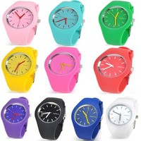 Bestcrew® Wholesale Lots of 10pcs Unisex Men Women Girl Ultra-thin Silicone Jelly Gel Quartz Wrist Watches