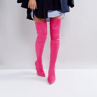 ASOS KINDY Point Over The Knee Boots at asos.com