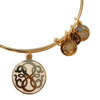 Alex and Ani Path of Life Epoxy Bangle Ivory - Yellow Gold