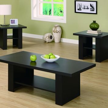 Cappuccino Hollow-Core 3Pcs Occasional Table Set