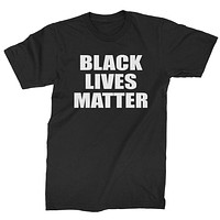 Black Lives Matter BLM Mens T-shirt