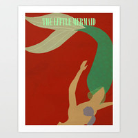 The Little Mermaid Art Print by Magicblood