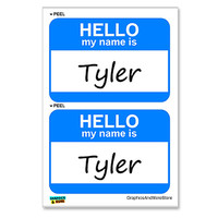 Tyler Hello My Name Is - Sheet of 2 Stickers