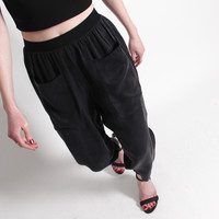 Berenik Cropped Pocket Trouser - Black