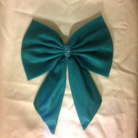 Princess Ariel Hair Bow-The Little Mermaid Bow--Hair Clip-Big Bow-Large Bow-Fabric Bow - bows for kids- Bow for women-teal. Blue  bow