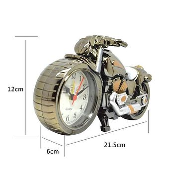Motorcycle Alarm Clock Shape Creative Retro Gifts Upscale Furnishings Boutique Home Decorator HG99