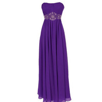 A-line Sweetheart Sleeveless Floor-length Chiffon Bridesmaid Dress With Beading Free Shipping