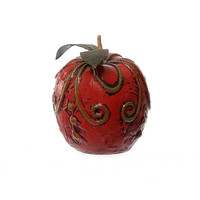 Vintage 60s Fitz and Floyd Red Apple Paperweight 1960s Mid Century Mod Sculpture Hippie Boho Kitsch FF Japan MCM Home Decor
