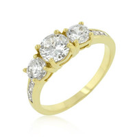 Triplet Golden Wedding Ring, size : 07