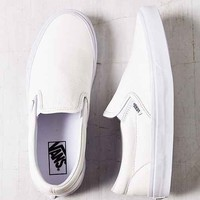 Vans Classic Premium Leather Slip-On Women's Sneaker- White