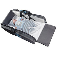 Baby Travel Bed, Changing Station and Diaper Organizer. 2 Bed Sheets INCLUDED.