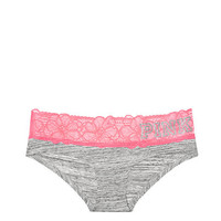 Tropical Lace Trim Hipster Panty - PINK - Victoria's Secret