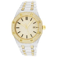 Men's Two-Tone Steel Luxury Face Gold Finish  Watch