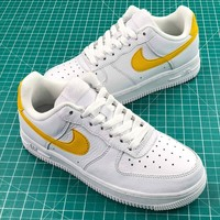 Nike Air Force 1 Low Af1 White Yellow Sport Shoes Sale