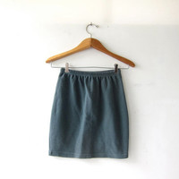 20% OFF SALE vintage basic cotton skirt. sage green skirt. mini skirt.