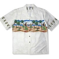 hula white hawaiian border shirt