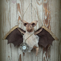 Textile Bat toy with for hours