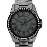 Juicy Couture Women's Stella Black Ceramic Pyramid Stud Bracelet Watch 40mm 1901089