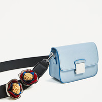CROSSBODY BAG WITH FLORAL STRAP