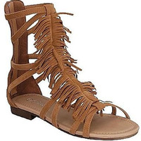 Womens Sandals Gladiator Strappy Flops Flat Open Toe Lace Up T Strap Buckle