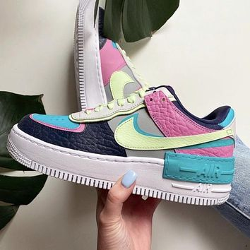 Nike Air Force 1 Shadow SE Multicolor Sneakers Shoes