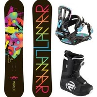 Lamar Merlot Women's Complete Snowboard Package with Rossignol Bindings and Flow Vega BOA Boots - Board Size 151