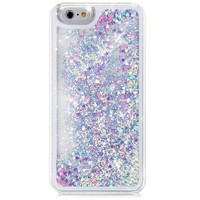Flowing Liquid Floating Glitter Sparkle Love Heart Hard Case for iPhone 6 6G Plus 5.5inch