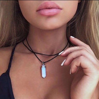 Haley Opal Double Layered Choker