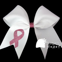 Breast Cancer Awareness bow by SamanthasHats on Etsy