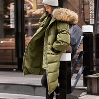 Fashion Womens Winter Jackets Thick Warm Woman Winter Coats and Jackets Long Down Jacket Coat Parkas for Women 2016