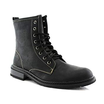 Men's 919674 Tall Ankle High Military Combat Fashion Dress Boots