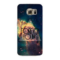 Forever Young Samsung Galaxy S7 Edge Soft Silicon TPU Printed Case Back Cover