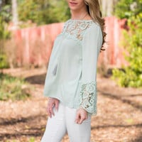 All In Good Time Blouse, Mint