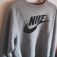 "Women Fashion ""NIKE"" Round Neck Top Pullover Sweater Sweatshirt"