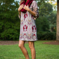All In Your Mind Dress, Burgundy