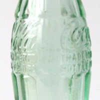 VINTAGE - Coca Cola Glass Soda Bottle - Light Green - Collectibles