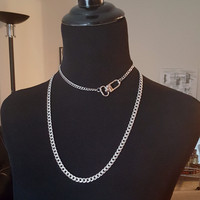 Parisian Clasp Necklace - Stainless steel chain
