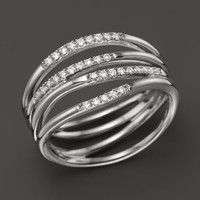 Dana Rebecca Designs 14K White Gold Wisp Ring with Diamonds | Bloomingdales's