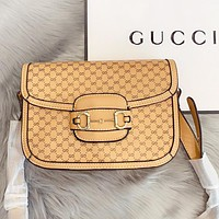 Hipgirls GUCCI Fashion new more letter leather shoulder bag crossbody bag